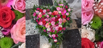 großes Rosenherz in verschiedenen Rosa-Tönen