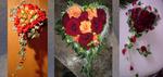 kleines Rosenherz in orange und rot Tönen
