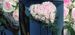 Autoschmuck Herz helle rosa Rosen