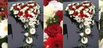 Autoschmuck rot weiß mit Germini und Rosen
